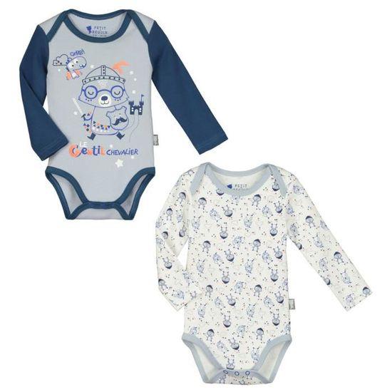 Lot de 2 bodies manches longues bébé garçon Magic Dragon - Taille - 36 mois  (98 cm) Multicolor - Achat   Vente body - Cdiscount bed0609dadd