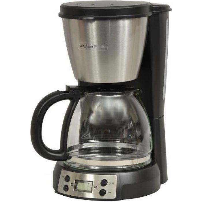 Capacité 1,5 litre utile -12-15 tasses -Puissance 900W -Niveau d'eau visibleCAFETIERE