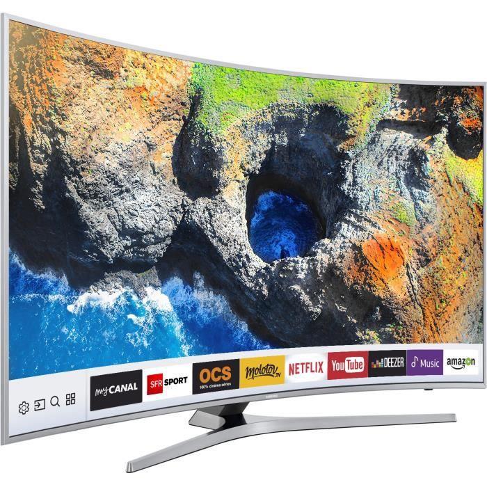 Samsung ue49mu6505 tv led uhd incurvée 123cm 49 smart tv 1600 pqi 3 x hdmi classe énergétique a