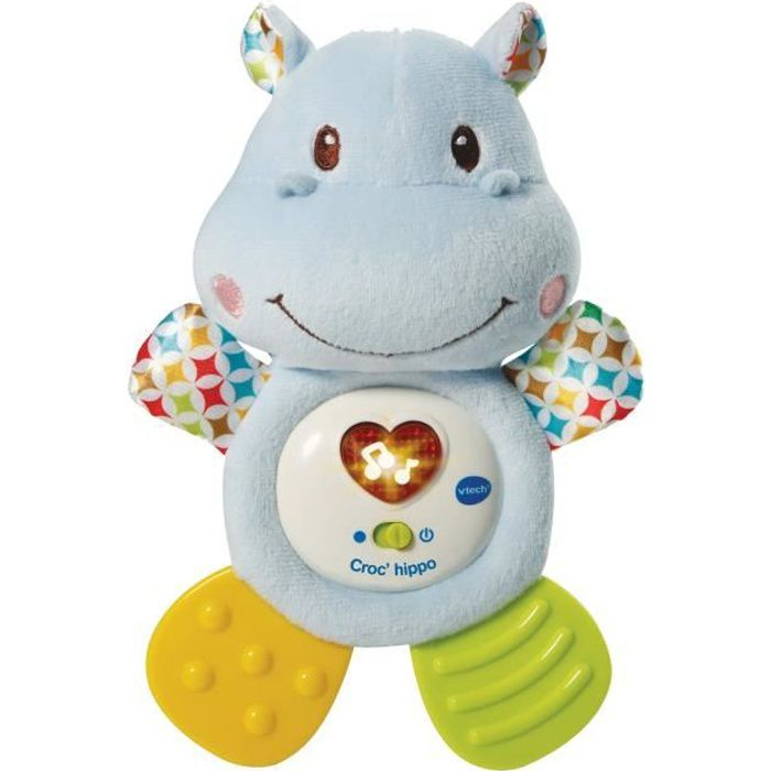 VTECH BABY - Hochet Croc'Hippo - Peluche Texturée