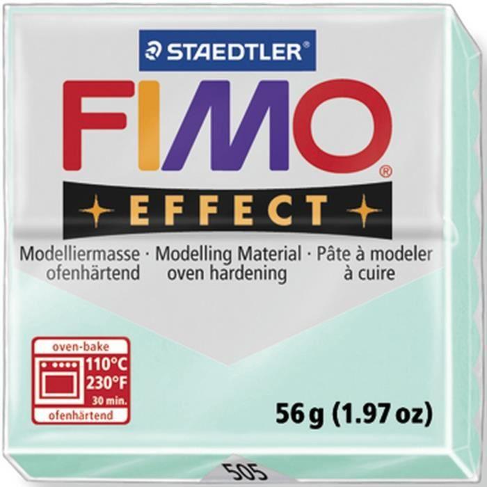 STAEDTLER Pâte à modeler à cuire Fimo Effect bloc 56 g menthe