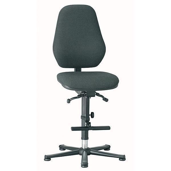 bimos chaise d 39 atelier m canisme synchrone avec patins et repose pieds habillage tissu. Black Bedroom Furniture Sets. Home Design Ideas