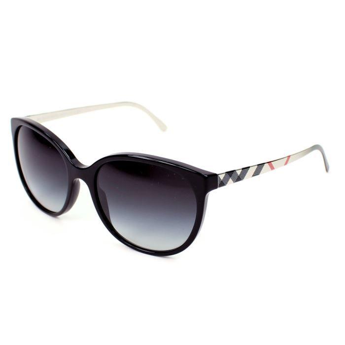 lunettes de soleil burberry be4146 noir - or  v u2026 noir  or  gris   vente lunettes de