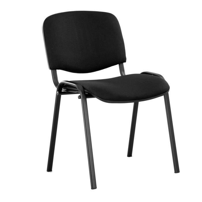 chaises de conf rence iso black lot de 2 noir achat. Black Bedroom Furniture Sets. Home Design Ideas