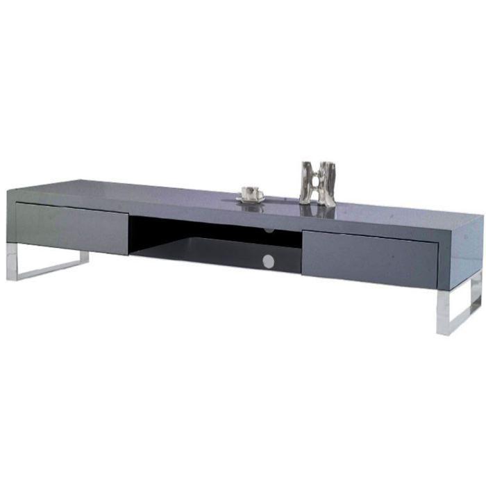meuble tv en bois gris laqu epura achat vente meuble tv meuble tv en bois gris laqu. Black Bedroom Furniture Sets. Home Design Ideas