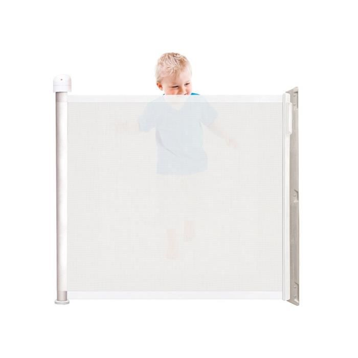 KIDDY GUARD Barrière de sécurité enfant avant - Blanc Blanc et ...