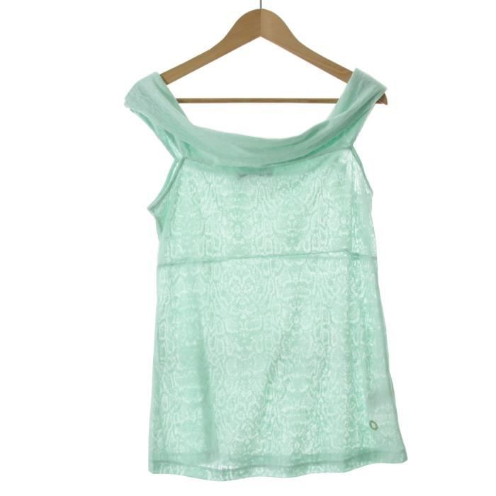 GUESS BY MARCIANO top femme 32W609 vert - Achat   Vente tunique ... 5a7b27d742b