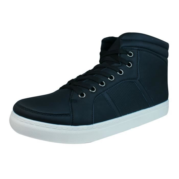 lacets N Galaxy Baskets Hi Hommes Top Black Bottines FfxOqa7