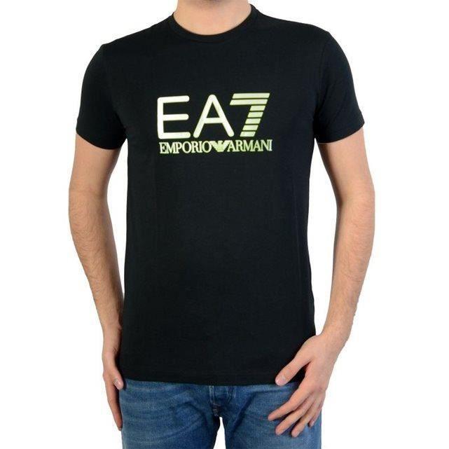tee shirt ea7 homme noir noir noir achat vente t shirt. Black Bedroom Furniture Sets. Home Design Ideas