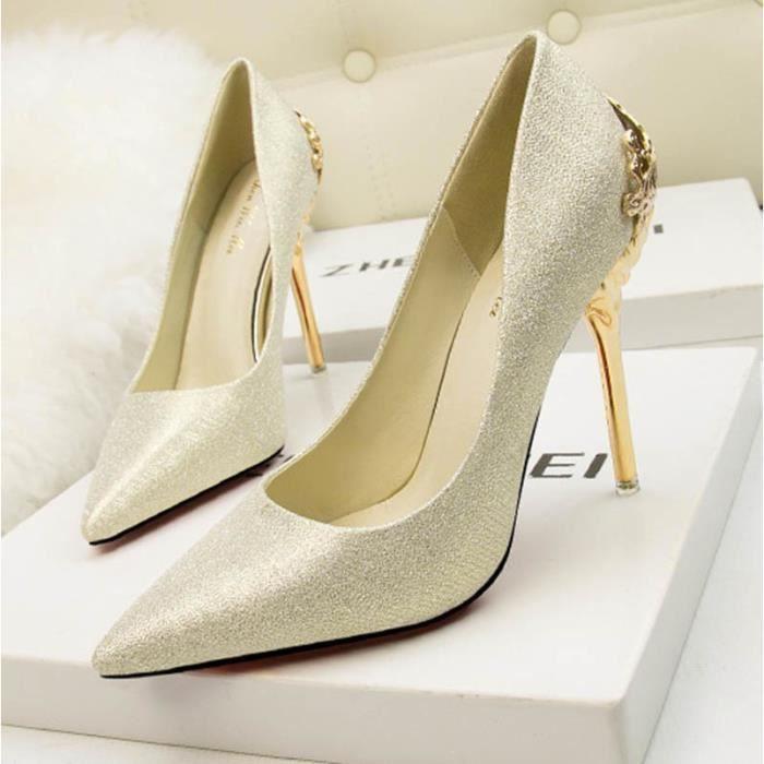b3890dcb26af11 Chaussure de soiree doree - Achat / Vente pas cher