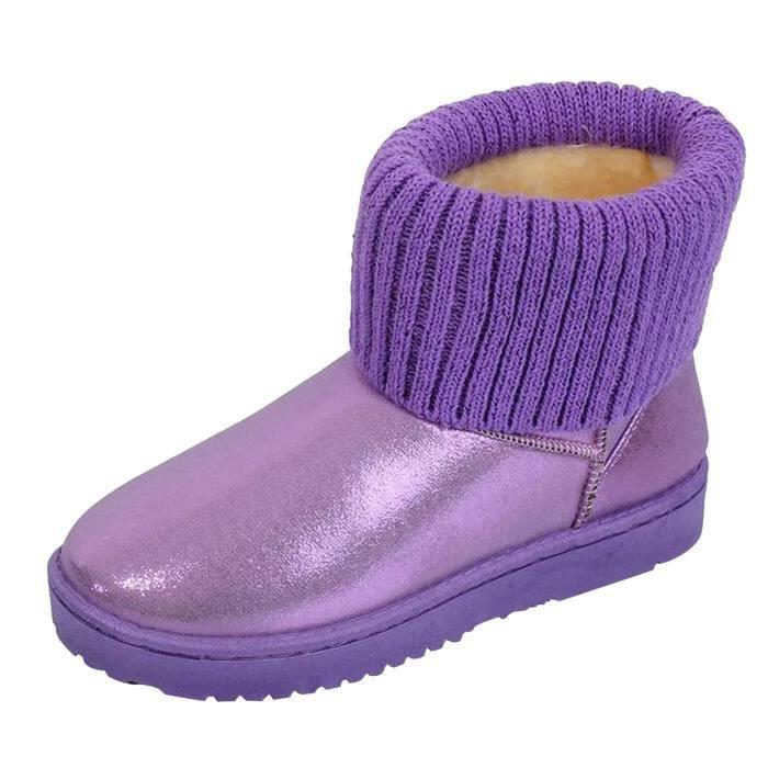 BOTTE HEE GRAND Boots Femme Fourrure de Neige