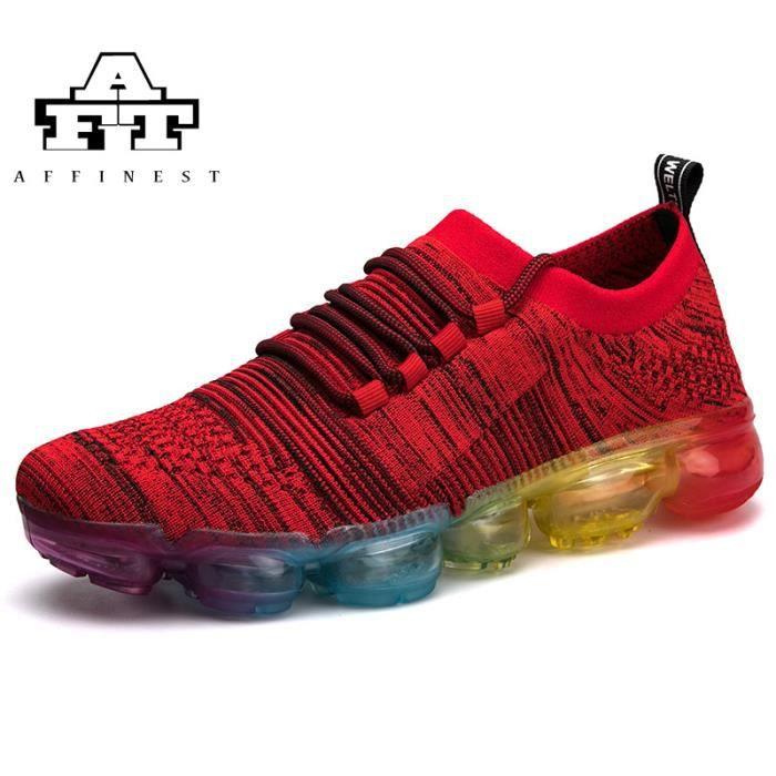 3372a46df0a Baskets Chaussures de sport pour hommes en coussin gonflable Rouge ...