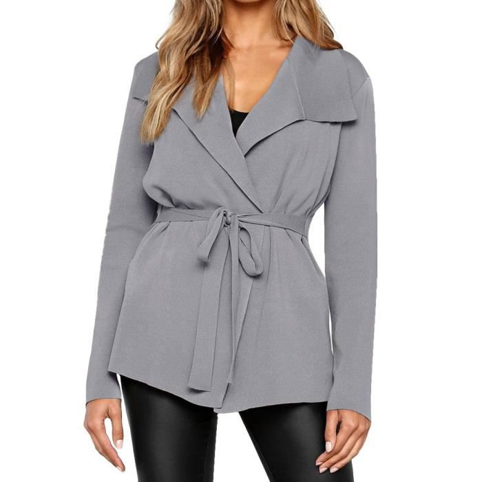 49d9394fddf Longues Pull Manches Manteau Casual Solide Bl5673 Coierbr Outwear ...