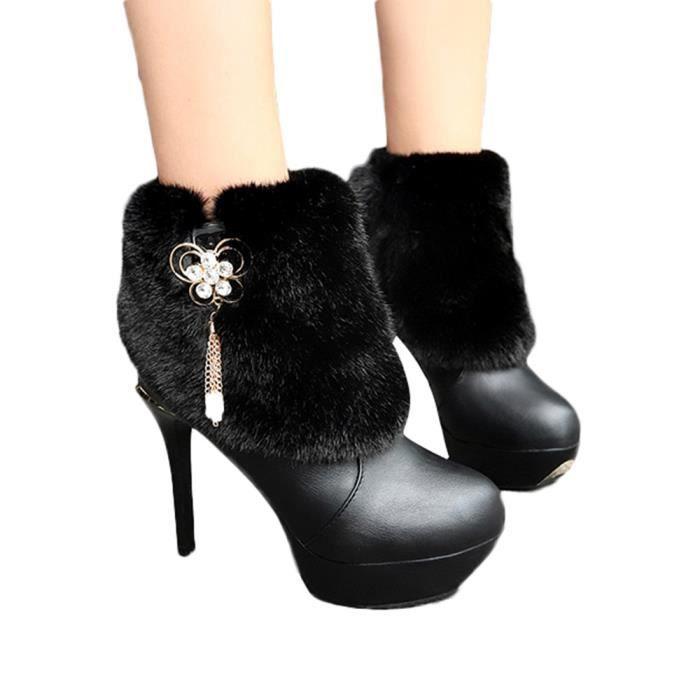 Talon Fine Martin Bout Cuir Antidrapante Keep Femmes Chaud Rond Chaussures Frandmuke5179 Loisirs En Bottes qXv0T