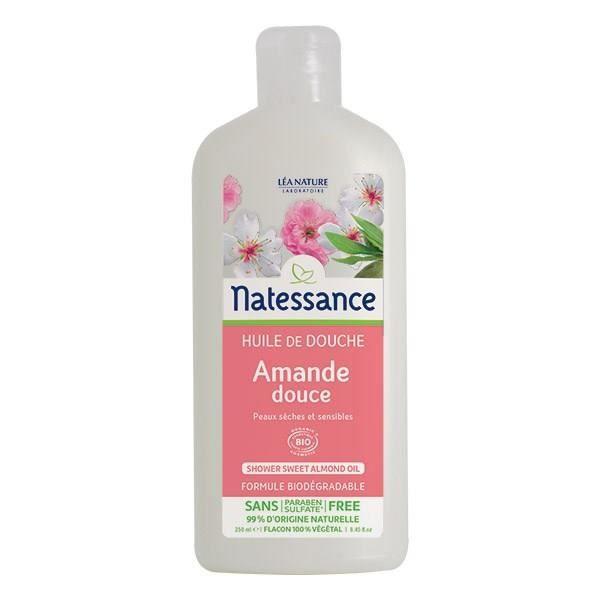 2419ec4180d88 NATESSANCE Huile de douche Amande Bio - 250 ml - Peaux sèches - Sans ...