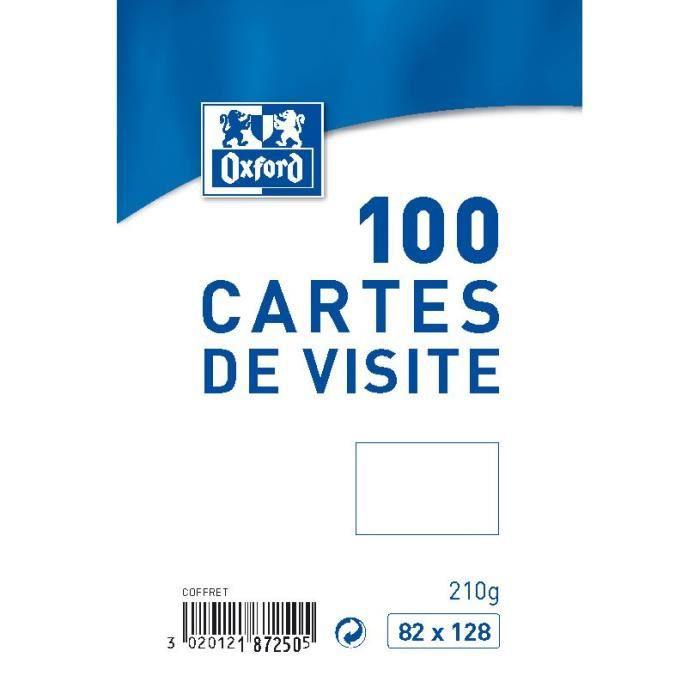 OXFORD 100 Cartes De Visite