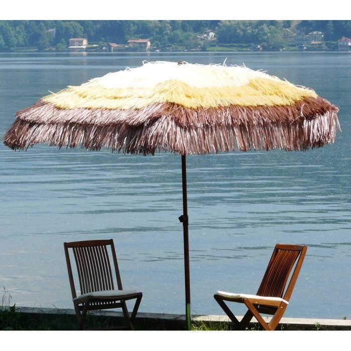 parasol en paille achat vente pas cher. Black Bedroom Furniture Sets. Home Design Ideas