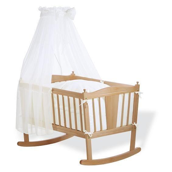 parure berceau b b 4 pi ces blanc achat vente parure de lit b b 4035769008505 soldes. Black Bedroom Furniture Sets. Home Design Ideas