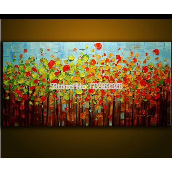 Peintures Modernes Colorées pipihua® peint à la main peinture à l'huile palette couteau épais
