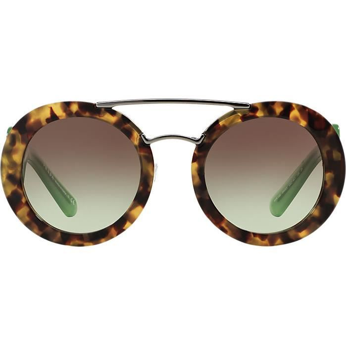0b2c9f1742e2d5 Lunettes de Soleil PRADA PR 13SS UEZ4K1 SPOTTED BROWN GREEN T54 ...