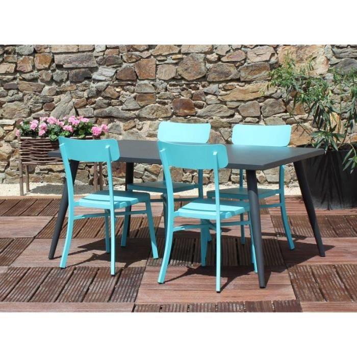Salon de jardin MICA anthracite - Couleur - Bleu - Achat / Vente ...