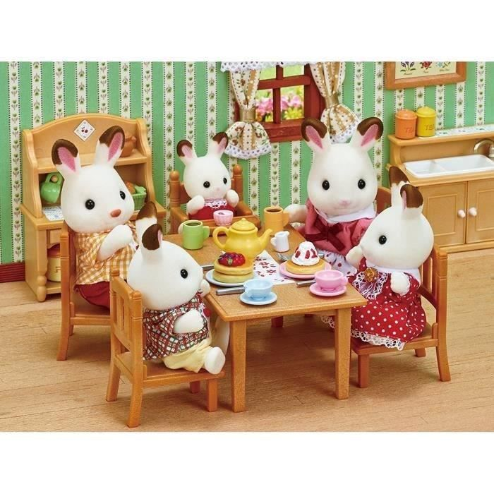 FIGURINE - PERSONNAGE SYLVANIAN FAMILIES 4150 Famille Lapin Chocolat