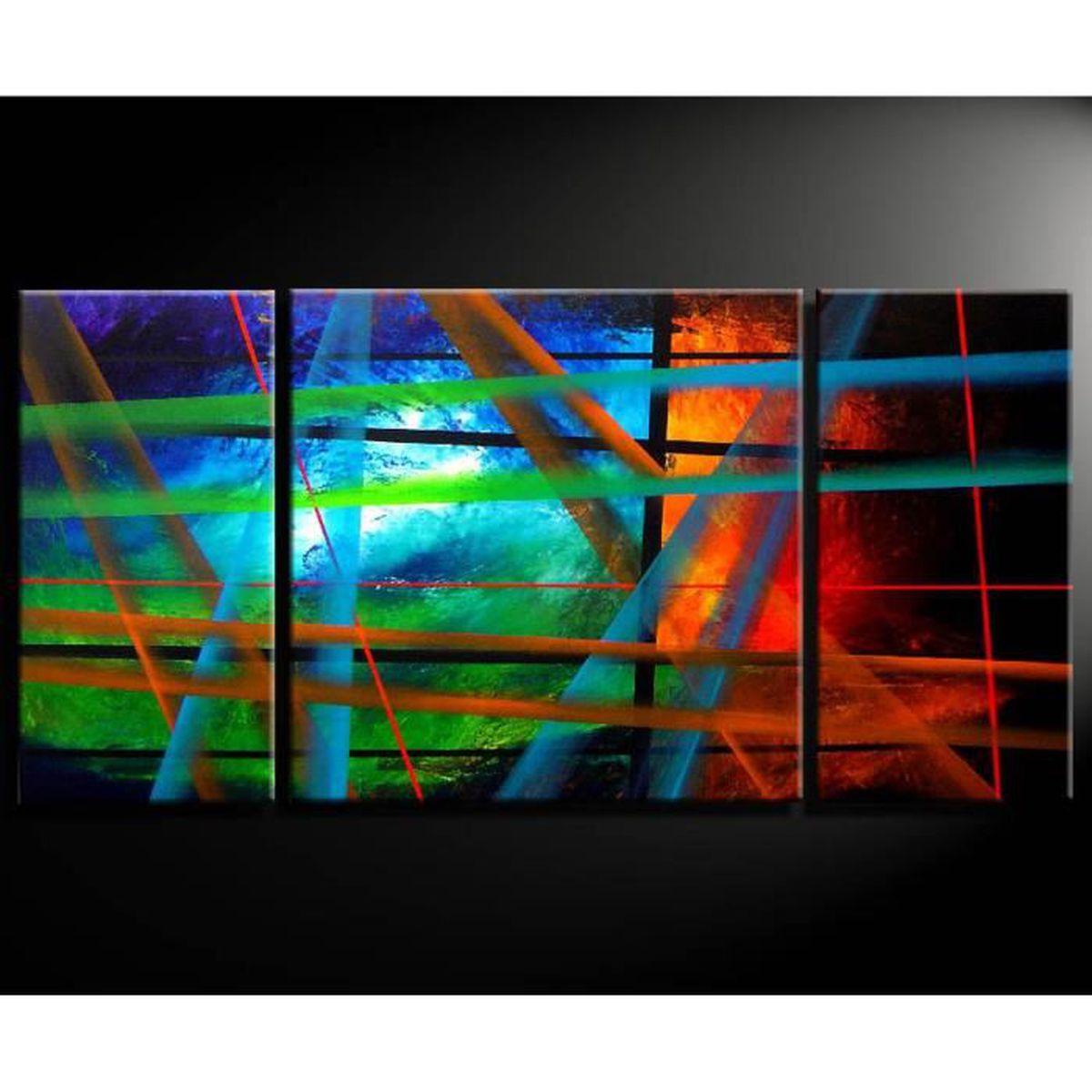 tableau d co tableau toile tableau triptyque d co mur tableaux zen cadeaux d co amazonie 3d. Black Bedroom Furniture Sets. Home Design Ideas