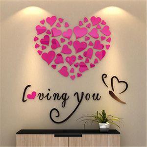 OBJET DÉCORATION MURALE Love Heart Bricolage amovible décalque de vinyle A