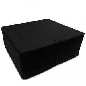 MATELAS Matelas Matelas en mousse pliable noir 190 x 70 x