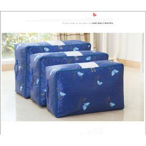 BOITE DE RANGEMENT  Tiroir de rangement tissu papillon bleu saphir 48