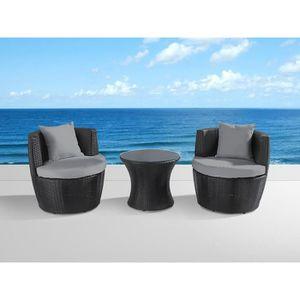 Set de housses en tissu gris pour salon de jardin Capri ...