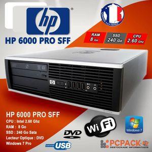 UNITÉ CENTRALE  UC HP 6000 PRO SFF INTEL E3400 2.60 Ghz 8 GO 240 G