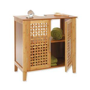 meuble sous vasque bambou achat vente meuble sous vasque bambou pas cher soldes d s le 10. Black Bedroom Furniture Sets. Home Design Ideas