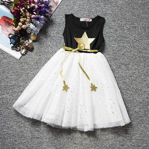 Enfant Bébé Fille Robe Princesse Mi-longue Imprimée Sans Manches ... 607a7b12e85