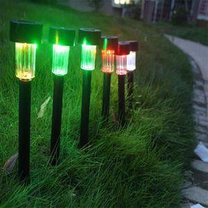 LAMPE DE JARDIN  Lampe Pelouse Jardin Solaire LED Colorée Changeabl