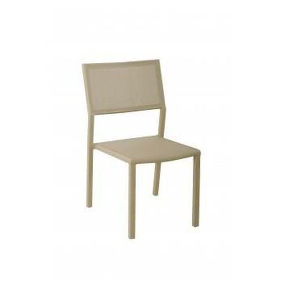 Chaise de jardin en aluminium thermolaqué stack... - Achat / Vente ...