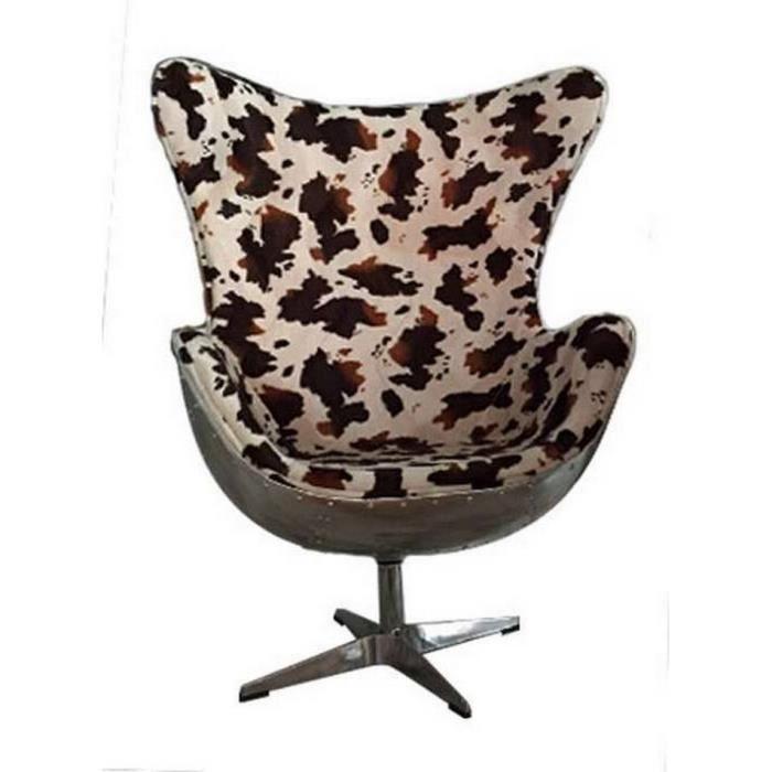 fauteuil peau de vache fauteuil butterfly peau de vache et mtal montecristo with fauteuil peau. Black Bedroom Furniture Sets. Home Design Ideas