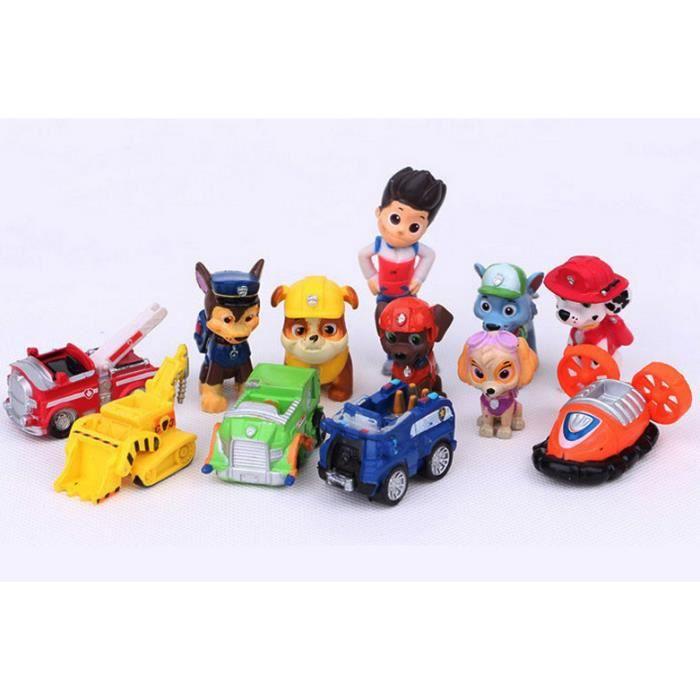 pat patrouille paw patrol lot de 12 achat vente figurine personnage cdiscount. Black Bedroom Furniture Sets. Home Design Ideas