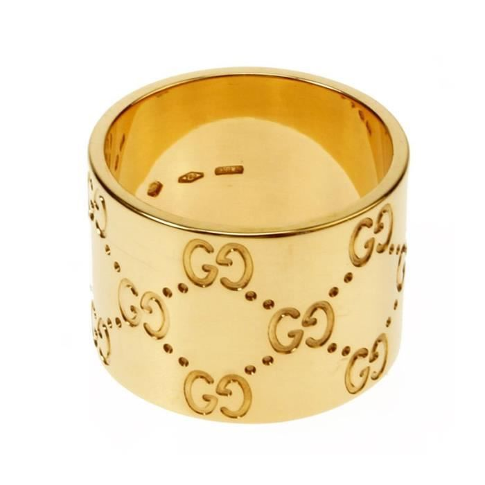 Gucci - GUCCI BAGUE ICÔNE OR JAUNE 18 CARATS TAILLE 17 073234 09850 8000 3a2b469791d