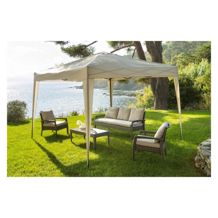 tonnelle pliante easy up 3x3 m hesperide sable achat. Black Bedroom Furniture Sets. Home Design Ideas