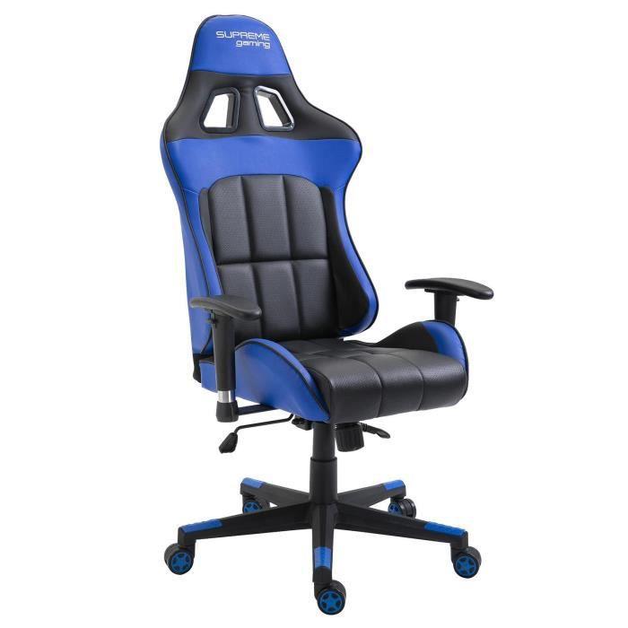 ChairFauteuil Style Crew Siège En Au Bureau De Racer Noirbleu Gamer Gaming Racing Synthétique Baquet Chaise Ergonomique xWBrCdeQo