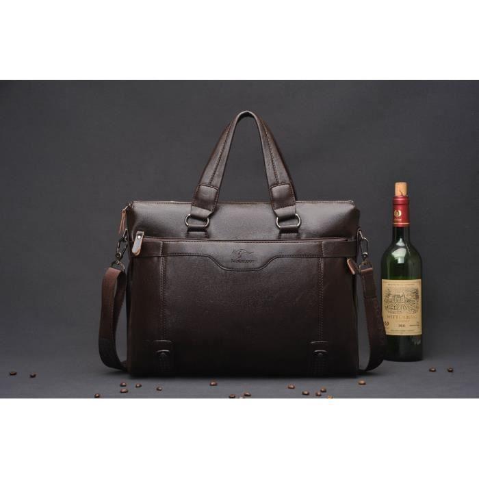 Hommes Voyage des Sacs Casual Briefcase affaires épaule en cuir Messenger Sacs Ordinateur portable Sac à main pour hommes