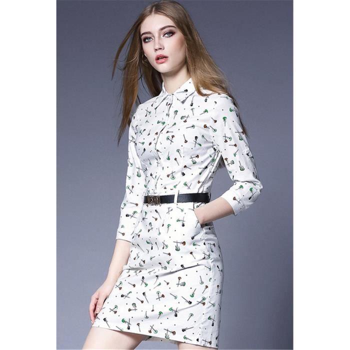 2016 printemps nouveau femmes, y compris manchon dimpression de la hanche, robe