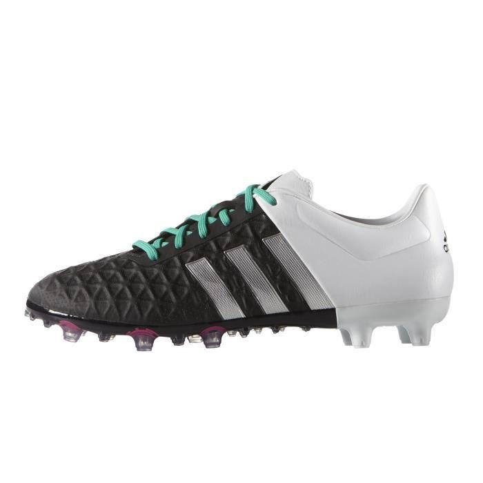 new styles 4d181 481ae Chaussures football adidas ACE 15.2 FG AG Noir Blanc