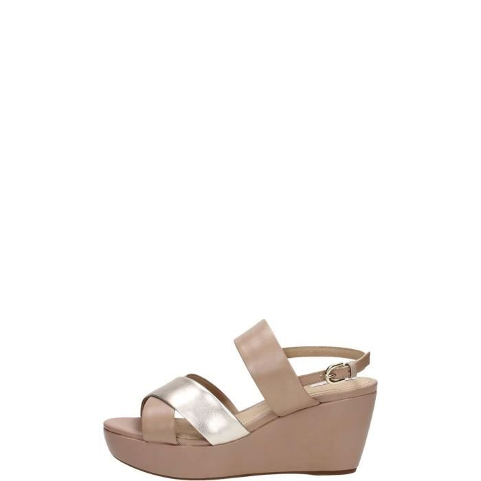 Geox Sandal Femme Taupe Gold Taupe gold