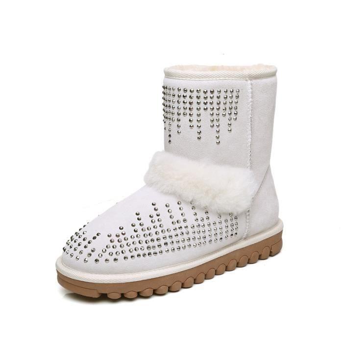 La neige chaude d'hiver bottes de ventemet des chaussures classiques sur les chaussures chaudes de botte de cheville livraison e pMqiHK