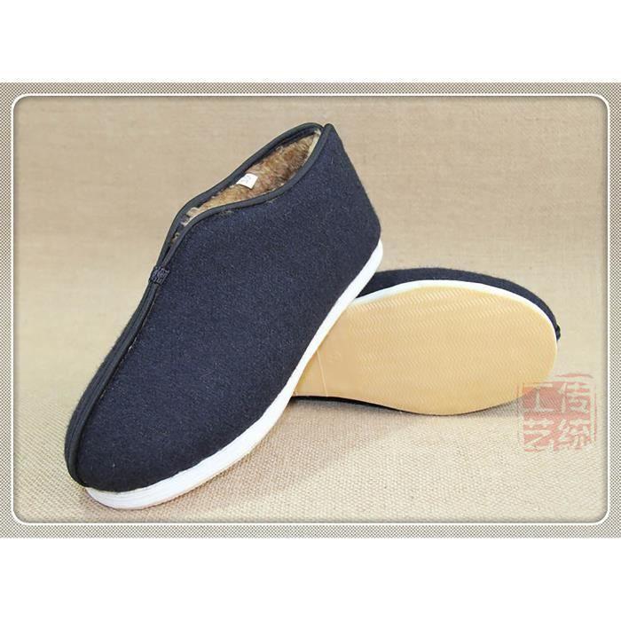 Traditionnel Chinois Chaussures en Toile Cowhells Vieux Pékin Coton Hiver Aise