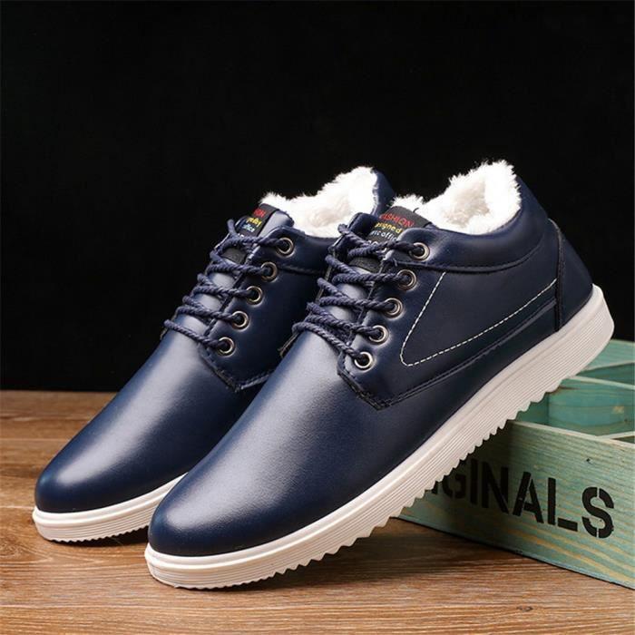 Chaussure chaussures Sneaker Les hommes décontractées Antidérapant Hiver Chaud dssx404bleu40 homme loisirs fourréesde pour rwrFfqA