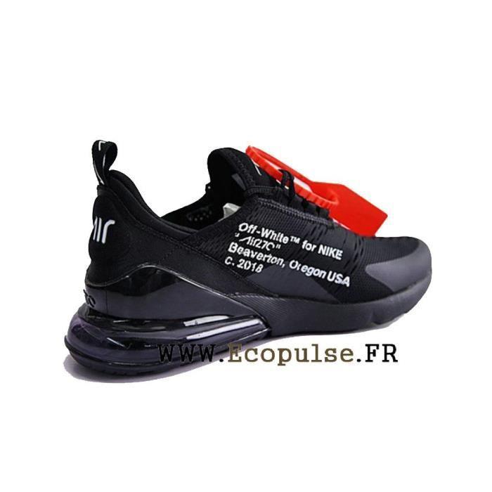 Baskets Nike Air Max 270 AH8050 100 HOMMEFEMME Noir Blanc