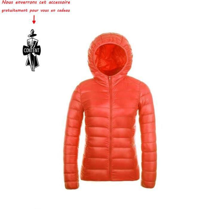 2a9b5131f8 Au Capuche nbsp;luxe Doudoune Et Orange Hiver À Vêtement Chaud Garder Femme  Femmes Légère Marque q6Xng6
